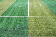 Artificial field grass. Image of artificial grass on a mini football field Royalty Free Stock Image
