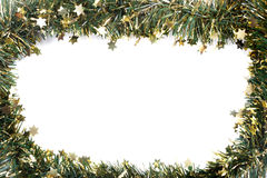 Artificial fir branch garland with tinsel Royalty Free Stock Photography