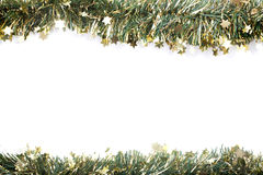 Artificial fir branch garland with tinsel Royalty Free Stock Photos