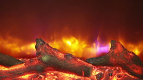 Artificial fireplace stock video footage