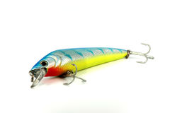 Artificial fish blue on white Stock Photography