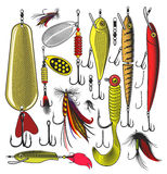 Artificial fishing lures Stock Photo