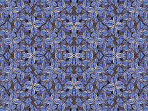 Artificial Floral Pattern in Navy Colors Stock Photos