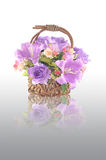 Artificial flower arrangement. With reflection Royalty Free Stock Images