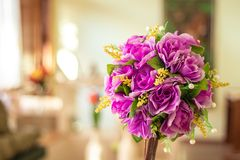 An artificial flower as beautiful as a natural stock photo