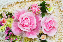 Artificial flower background Stock Images