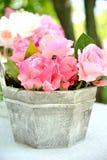 Artificial  flower beautiful  interior Close-up. Stock Photo