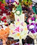 Artificial flower bouquet. Stock Image