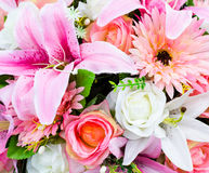 Artificial flower bouquet Stock Image
