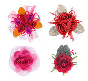 Artificial Flower collection Stock Images