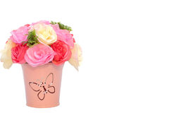 Artificial flower in the flowerpot Stock Photography