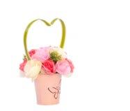 Artificial flower in the flowerpot Stock Image