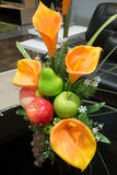 Artificial flower and fruit Royalty Free Stock Images