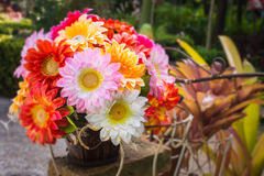Artificial flower in the garden Stock Images