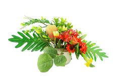 Artificial flower. Handicraft style image Royalty Free Stock Photos