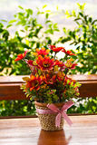 Artificial flowers. Royalty Free Stock Images