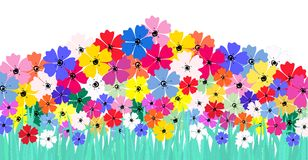 Artificial flower illustration Royalty Free Stock Photo