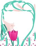 Artificial flower illustration Royalty Free Stock Image