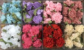 Artificial flower pattern. Royalty Free Stock Images
