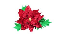 Artificial flower poinsettia handmade Stock Photos