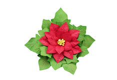 Artificial flower poinsettia handmade Stock Images