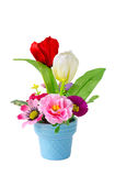 Artificial flower pot Royalty Free Stock Photography