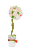 Artificial flower in a pot. Stock Photography