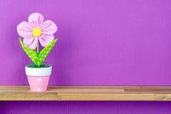 An Artificial Flower in a Pot Stock Photo