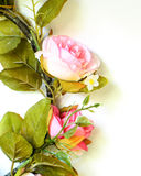 Artificial flower. (Rose) with leaves Stock Images