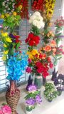Artificial flower shop stock photo