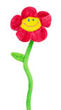 Artificial flower with smile Royalty Free Stock Image