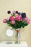 Artificial flower in vase. The Artificial flower in vase Stock Photography