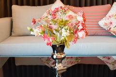 Artificial flower in vase. The artificial flower in vase Stock Photos