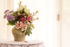 Artificial flower in vase Stock Photography