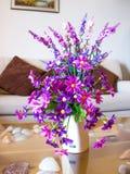Artificial flower. In white vase Stock Image