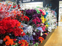 Artificial flowers. Stock Image