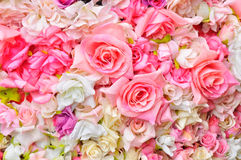 Artificial flowers background royalty free stock image
