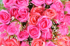 Artificial flowers background Royalty Free Stock Images