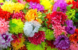 Artificial flowers. Stock Images