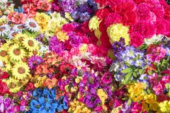 Artificial flowers - background Stock Image
