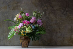 Artificial flowers. Beautiful and colorful artificial flower stock images