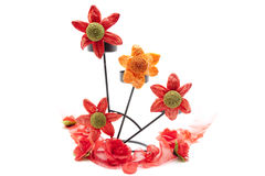 Artificial flowers blossoms Stock Image