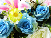 Artificial flowers bouquet fake roses plastic roses Royalty Free Stock Images