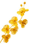 Artificial flowers covered with gold Stock Photo