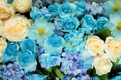 Artificial flowers for decorating royalty free stock image