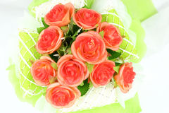 Artificial flowers decorative isolated on the white background Royalty Free Stock Photography