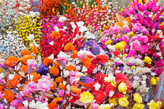 Artificial flowers, handicraft items on display , Kolkata Stock Photos