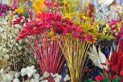 Artificial flowers, handicraft items on display , Kolkata Stock Image