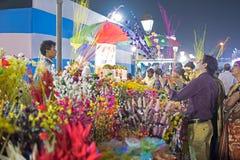 Artificial flowers, handicraft items on display , Kolkata Stock Photography