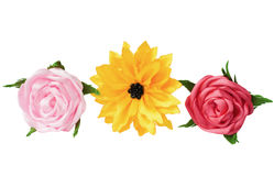 Artificial flowers handmade Royalty Free Stock Photos